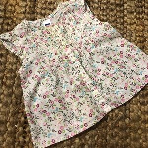 NWOT Baby Gap Floral Cap Sleeve Top Sz 3-6 Months